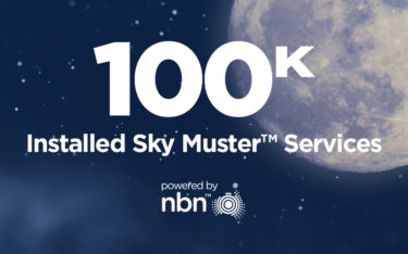 nbn™ Surpasses 100,000 Installed Sky Muster™ Services