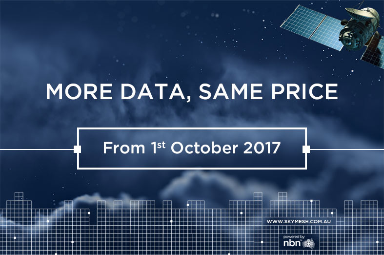 Our new Sky Muster™ Plans have landed. More data, same great prices!