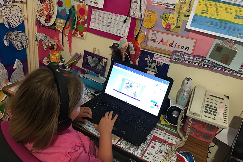 Child online for distance education