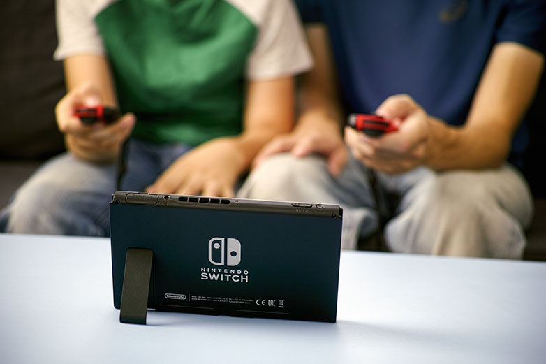 Game play on a Nintendo Switch