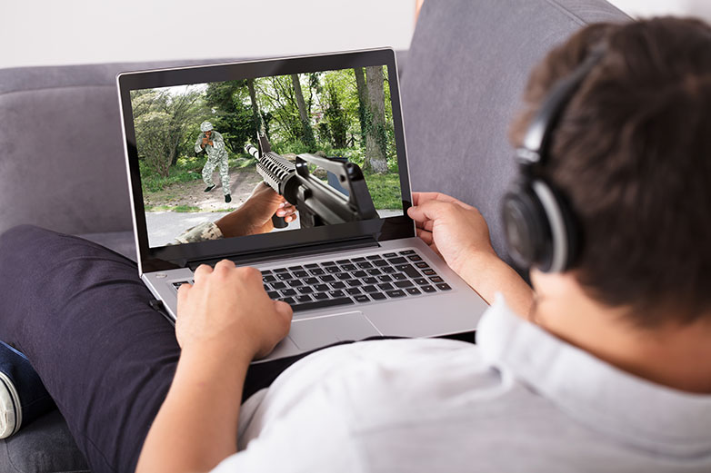 First-person shooter games are not a great idea on satellite