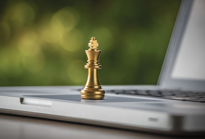 Chess is a great example of turn-based online games that work well on Sky Muster