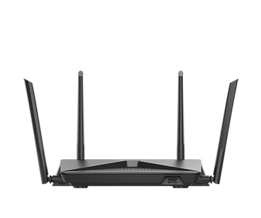 Black D-Link Router