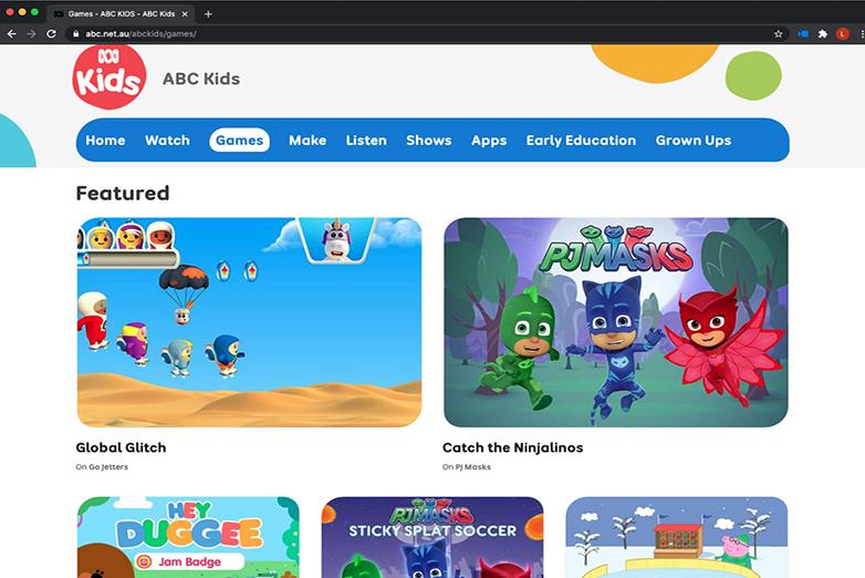ABC Kids website