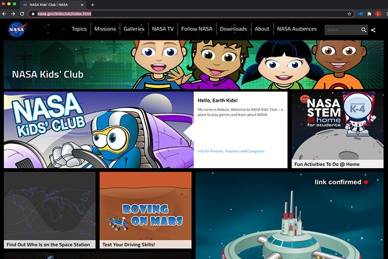NASA Kids website