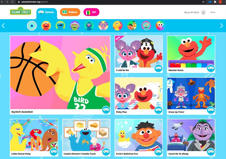 Sesame Street website