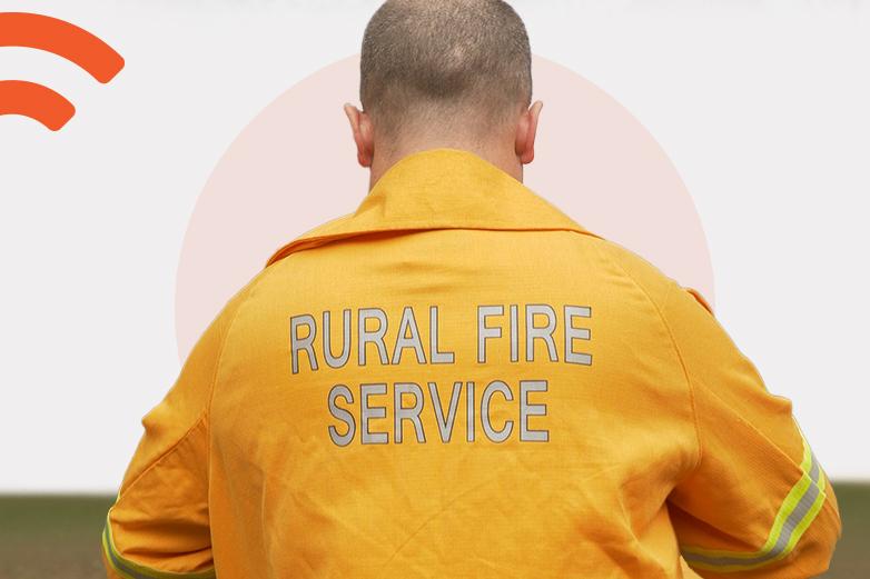 SkyMesh customer in his rural fire service uniform