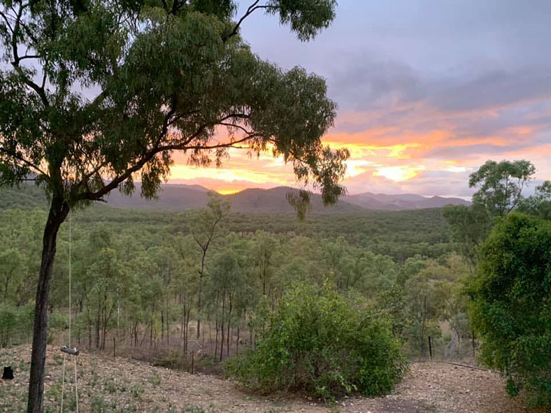 2020 Get Snapping competition entry from Janelle Baker featuring a sunset over a rural Australian setting